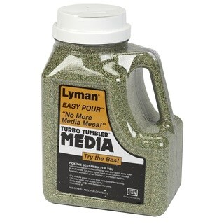Lyman 6lb Easy Pour Container Corn Cob Media-Green