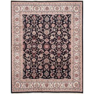 Ecarpetgallery Hand-knotted Royal Mahal Black Wool Rug (7'10 x 10'2)
