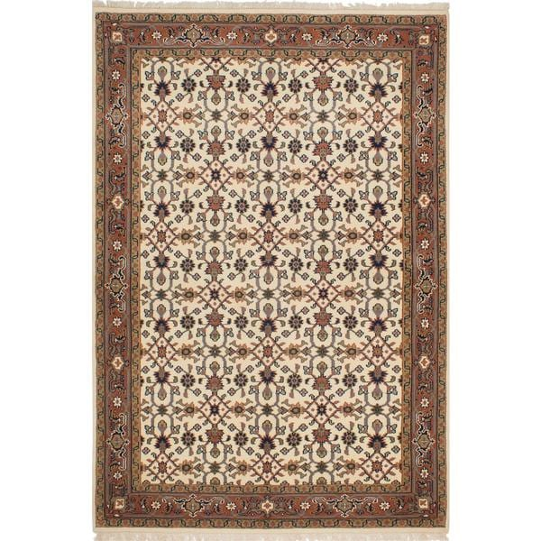 Ecarpetgallery Hand-knotted Royal Mahal Beige Wool Rug (5'3 x 7'9)
