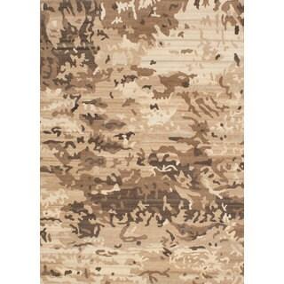 Ecarpetgallery Hand-knotted Aurora Beige Wool Rug (5'9 x 8')