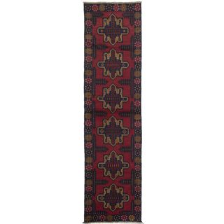 Ecarpetgallery Hand-knotted Kazak Red Wool Runner Rug (2'7 x 9'8)