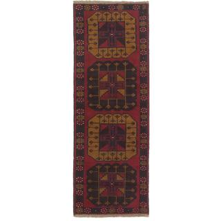 Ecarpetgallery Hand-knotted Kazak Brown/ Red Wool Runner Rug (2'4 x 6'5)