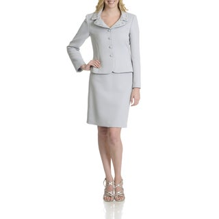 Tahari Women's Embellisehd 2 Piece Skirt Suit