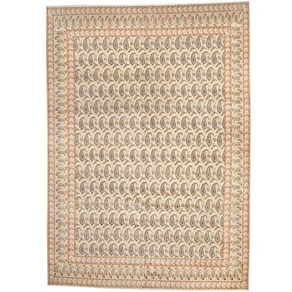 Handmade Herat Oriental Persian 1940s Semi-antique Kashan Wool Rug - 10'5 x 14'8 (Iran)