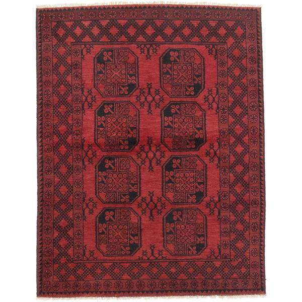 Ecarpetgallery Hand-knotted Khal Mohammadi Red Wool Rug (4'10 x 6'2)