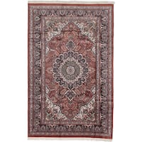 Ecarpetgallery Hand-knotted Kashmir Brown Silk Rug - 5'10 x 9'3