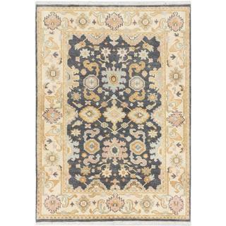 Ecarpetgallery Hand-knotted Royal Ushak Beige/ Grey Wool Rug (4'3 x 5'11)