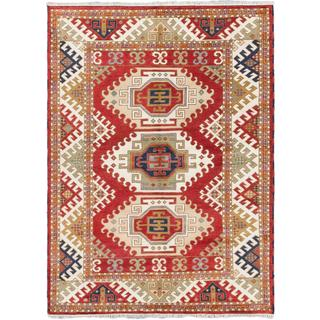 Ecarpetgallery Hand-knotted Royal Kazak Red Wool Rug (5'10 x 8')