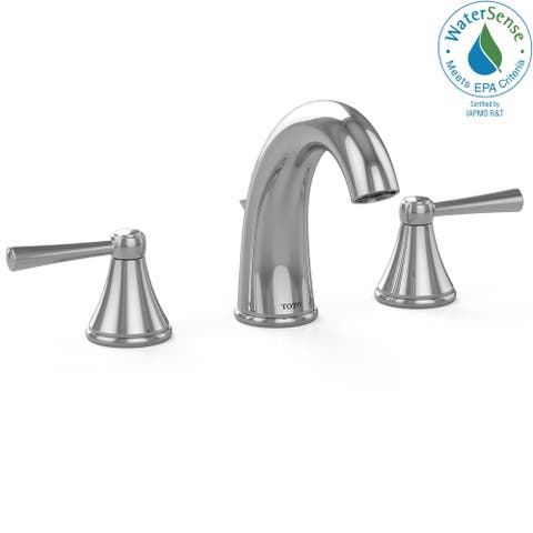 Toto Silas Two Handle Widespread 1.5 GPM Bathroom Sink Faucet, Polished Chrome (TL210DD#CP)
