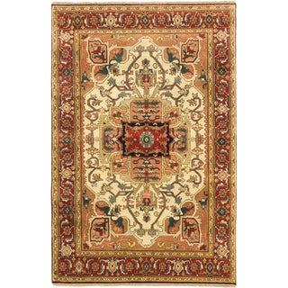 Ecarpetgallery Hand-knotted Serapi Heritage Beige/ Brown Wool Rug (5'11 x 9')