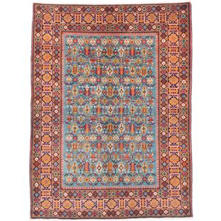 Ecarpetgallery Hand-knotted Antique Shiravan Blue Wool Rug (4'11 x 6'7)