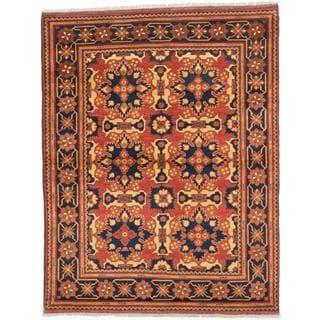 Ecarpetgallery Hand-knotted Finest Kargahi Brown Wool Rug (5'1 x 6'7)
