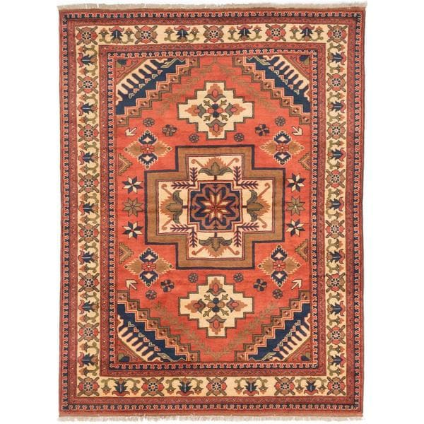 Ecarpetgallery Hand-knotted Finest Kargahi Brown Wool Rug (5'1 x 6'11)