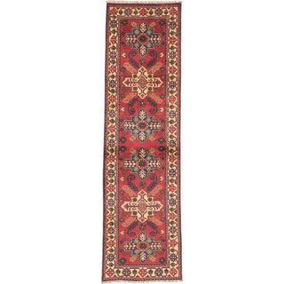 Ecarpetgallery Hand-knotted Finest Kargahi Brown Wool Runner Rug (2'8 x 9'6)
