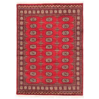 Ecarpetgallery Hand-knotted Finest Peshawar Bokhara Red Wool Rug (4'4 x 5'11)