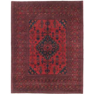 Ecarpetgallery Hand-knotted Finest Khal Mohammadi Red Wool Rug (4'11 x 6'3)