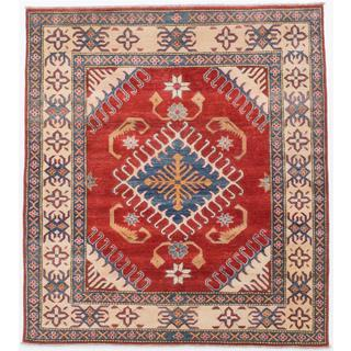 Ecarpetgallery Hand-knotted Finest Gazni Red Wool Rug (5'2 x 5'8)