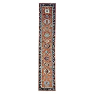 Antiqued Karajeh Runner Pure Wool Handmade Oriental Runner Rug (2'7 x 13'5)