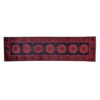 Runner Afghan Khamyab Natural Dyes Handmade Oriental Runner Rug (2'7 x 9'8)