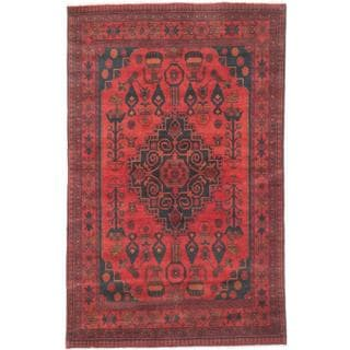 Ecarpetgallery Hand-knotted Finest Khal Mohammadi Orange Wool Rug (4'1 x 6'5)