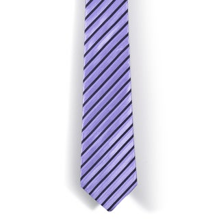 Davidoff 100-percent Silk Purple/ Black Stripes Neck Tie
