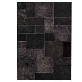 M.A.Trading Indian Hand-knotted Renaissance Black Rug (6'6 x 9'6)