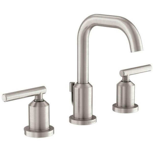 Shop Moen Gibson Widespread Bathroom Faucet 84229srn Spot Resist Brushed Nickel Free Shipping