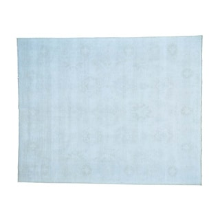 White Wash Oushak Pure Wool Hand-knotted Oriental Rug (8'1 x 10')