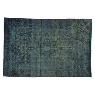 Persian Bakhtiari Distressed Overdyed Handmade Rug (6'8 x 10')