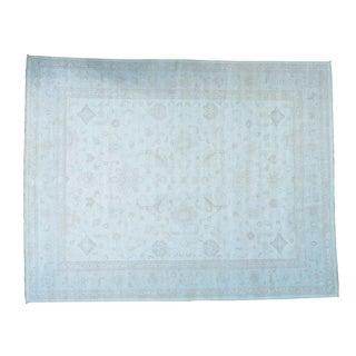 White Wash Oushak Pure Wool Oversize Handmade Rug (13'7 x 17'4)