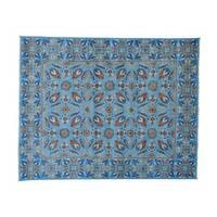 Arts and Crafts Tulip Design Handmade Oriental Rug (8' x 10'1)