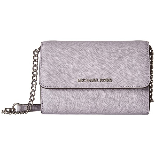 2fcccafcd13c Shop Michael Kors Jet Set Lilac Leather Large Phone Crossbody ...