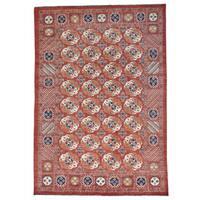 Afghan Ersari Tekke Bokhara Pure Wool Hand-knotted Rug (9'10 x 14'1)
