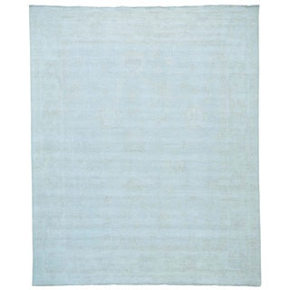 Silver Wash Oushak Hand-knotted Pure Wool Oriental Rug (8'2 x 9'10)