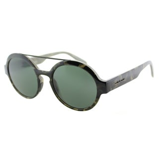 Italia Independent IT 0913 I-Plastik 140_GLS Brush Brown Plastic Round Grey Lens Sunglasses