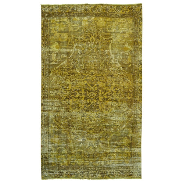 Semi Antique Hand-knotted Persian Bakhtiari Overdyed Rug (5'8 x 9'8)