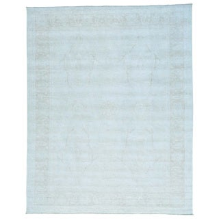 Silver Wash Oushak Pure Wool Hand-knotted Oriental Rug (9' x 11'3)