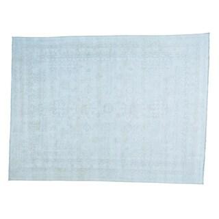 Stone Wash Khotan Pure Wool Hand-knotted Oriental Rug (8'7 x 11'6)