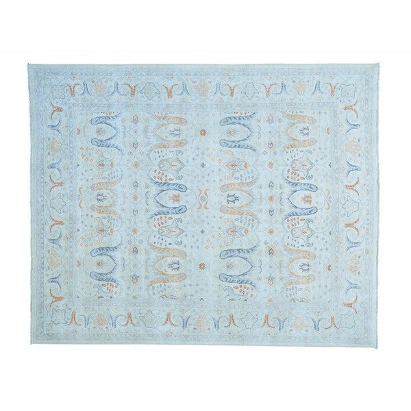 White Wash Oushak Bidjar Garrius Design Hand-knotted Rug (8' x 9'10)