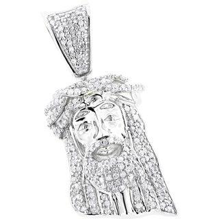 Luxurman 10k Gold Solid 1/2ct TDW Diamond Jesus Crown Pendant (H-I, SI1-SI2)