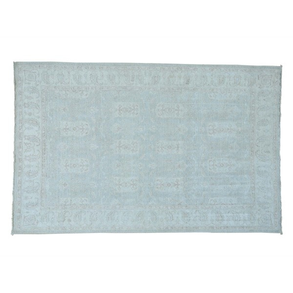White Wash Oushak Hand-knotted Pure Wool Oriental Rug (5'10 x 9')