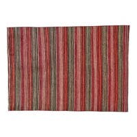Striped Modern Gabbeh Pure Wool Hand-knotted Oriental Rug (5'5 x 7'9)