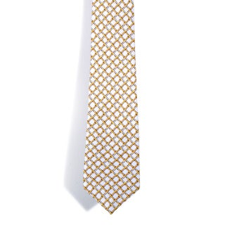 Davidoff 100-percent Silk Gold Boxed Pattern Neck Tie