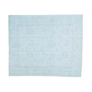 Stone Wash Oushak Pure Wool Hand-knotted Oriental Rug (8' x 9'5)