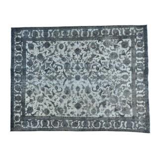 Overdyed Persian Tabriz Barjasta Handmade Rug (9'8 x 12'7)