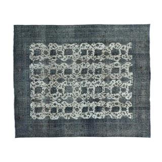 Silver Overdyed Persian Tabriz Barjasta Handmade Rug (10'1 x 12'3)