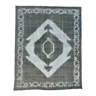 Overdyed Persian Tabriz Barjasta Handmade Oriental Rug (10' x 12'5)