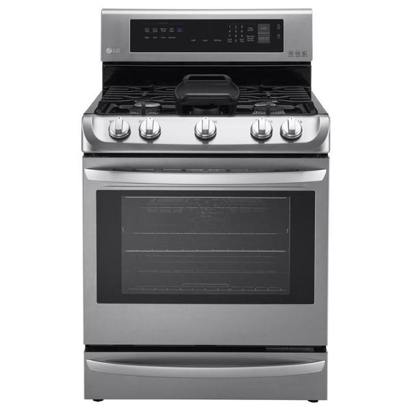 LG 30-inch 6.3-cubic-foot Oven Freestanding Gas Range - Stainless Steel