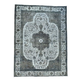 Persian Tabriz Barjasta Overdyed Handmade Oriental Rug (8'2 x 11')