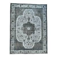 Persian Tabriz Barjasta Overdyed Handmade Oriental Rug